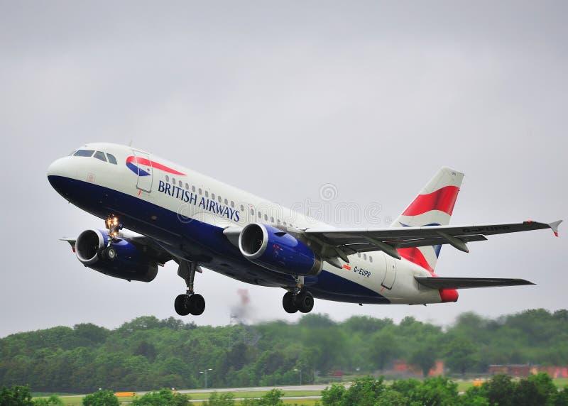 De Luchtbus van British Airways A319 royalty-vrije stock foto