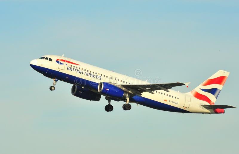 De luchtbus van British Airways A320 stock afbeelding