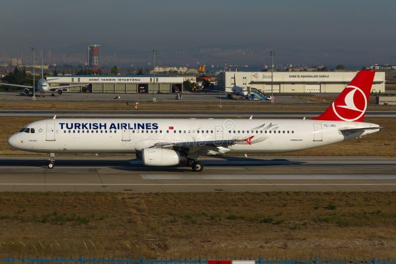 De Luchtbus van Turkish Airlines A321 royalty-vrije stock afbeelding