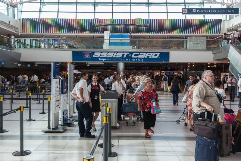De Luchthaven Buenos aires van Ezeiza stock fotografie