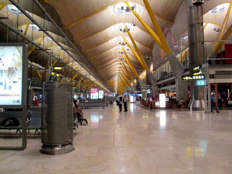 De Luchthaven Madrid-Barajas Spanje Europa van Adolfo Suà ¡ rez royalty-vrije stock foto's