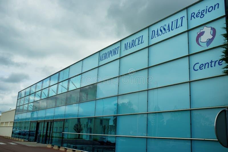 De luchthaven van Chateauroux - Frankrijk stock afbeeldingen