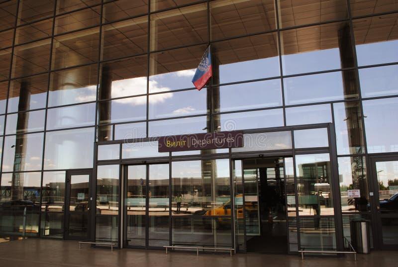 De luchthaven van Donetsk onder separatistencontrole royalty-vrije stock afbeeldingen