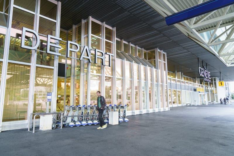 De Luchthaven van Genève Cointrin stock afbeelding