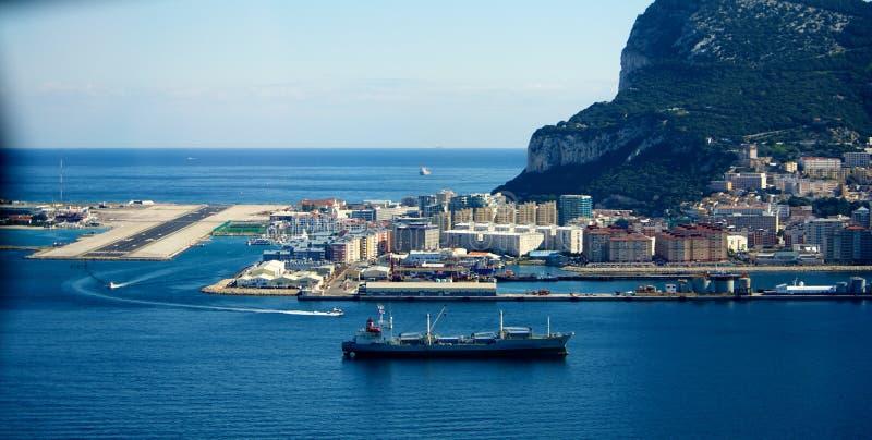 De luchthaven van Gibraltar stock foto's