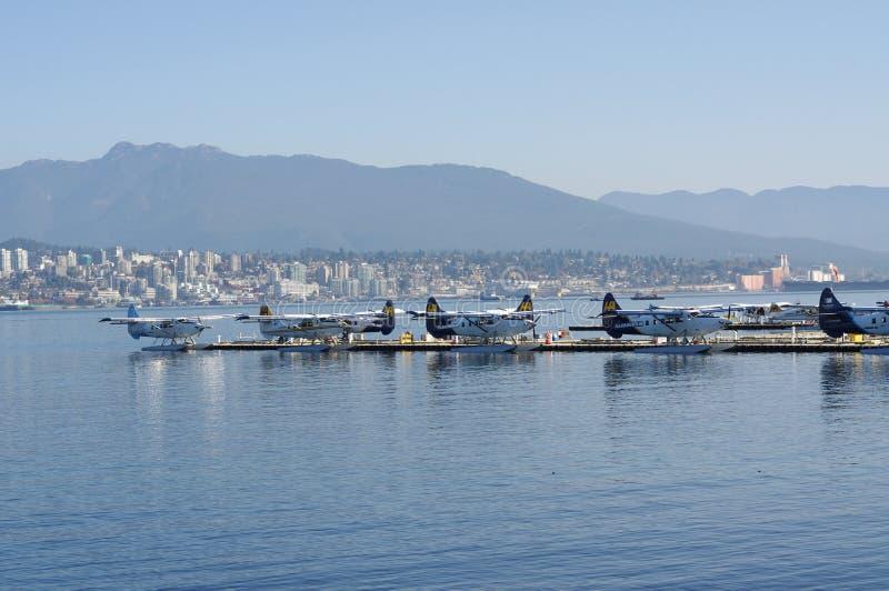 De Luchthaven van het de Havenwater van Vancouver stock afbeelding