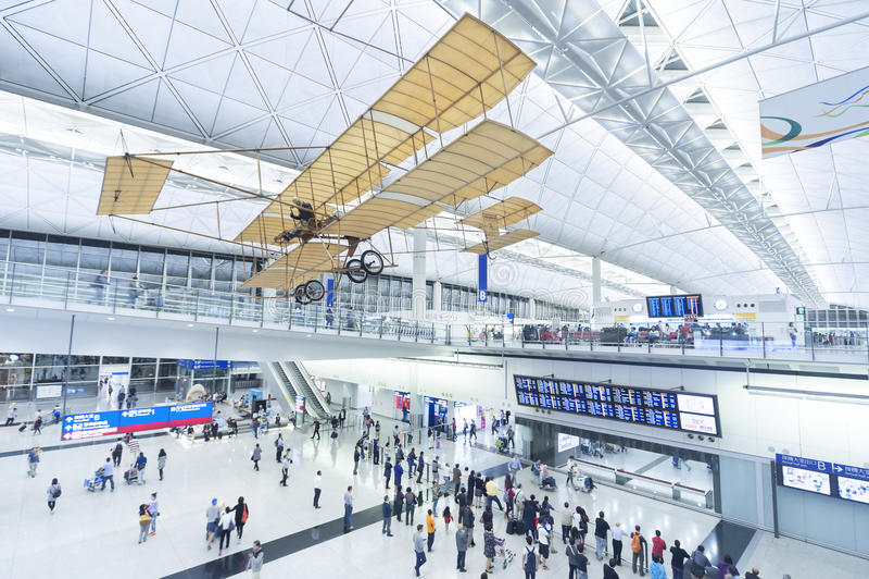 De Luchthaven van Hongkong stock afbeeldingen