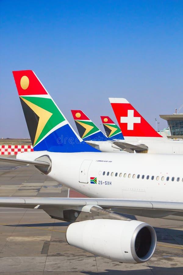 De Luchthaven van Johannesburg Tambo royalty-vrije stock afbeeldingen
