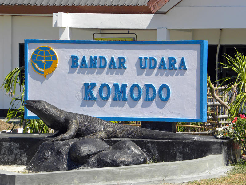 De Luchthaven van Komodo stock foto