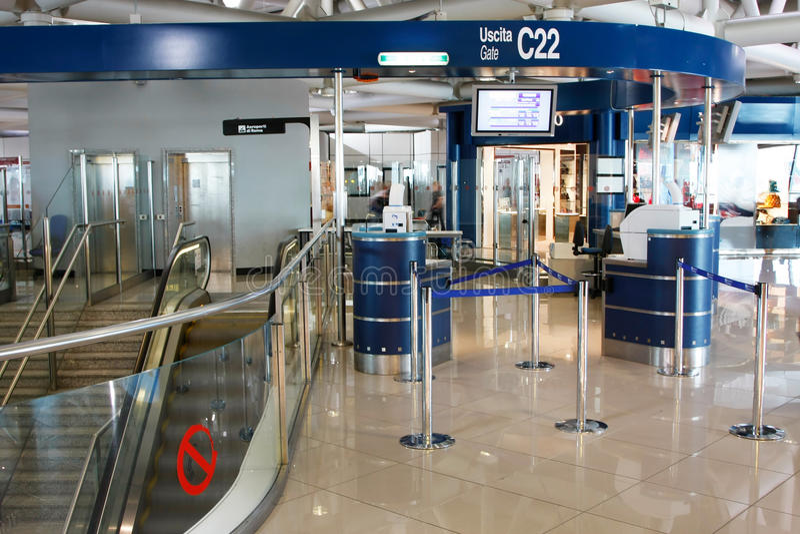 De Luchthaven van Leonardo DA vinci-Fiumicino royalty-vrije stock foto