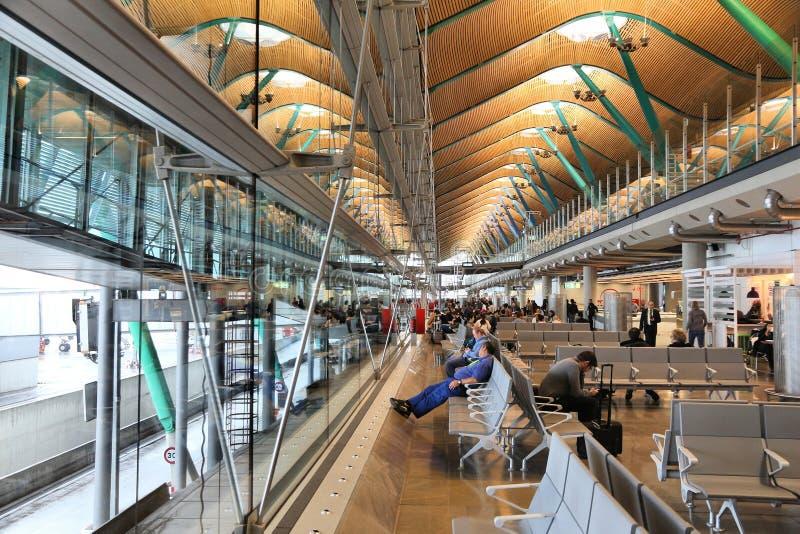 De luchthaven van Madrid barajas stock afbeeldingen