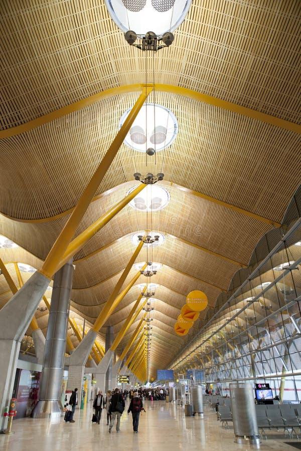 De Luchthaven van Madrid Barajas T4 stock afbeelding