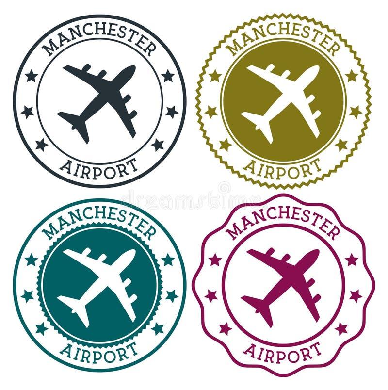 De luchthaven van Manchester De Luchthavenembleem van Manchester stock illustratie