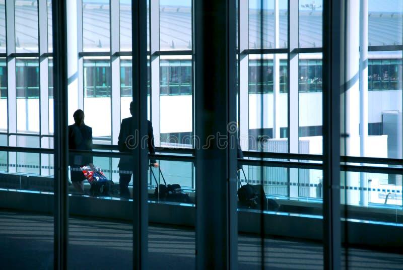De luchthaven van mensen stock foto's