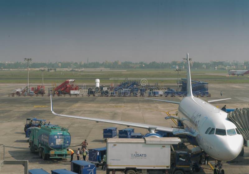 De luchthaven van Netajisubhash chandra bose, Kolkata royalty-vrije stock afbeelding