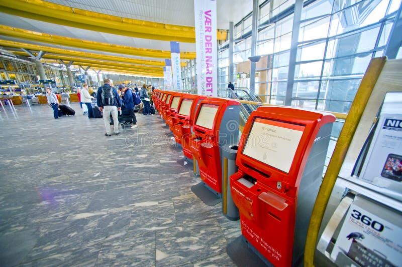 De luchthaven van Oslo stock fotografie