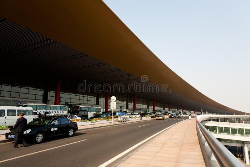 De Luchthaven van Peking - buiten Terminal 3 royalty-vrije stock foto