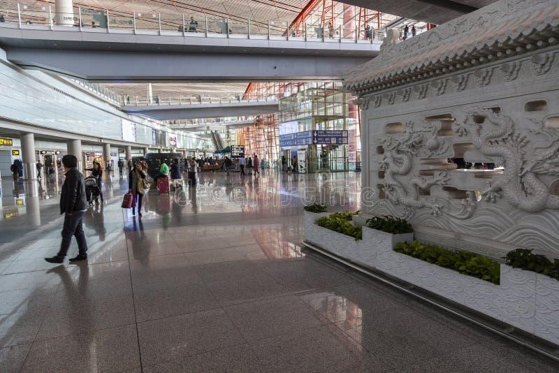 De luchthaven van Peking, China royalty-vrije stock foto's