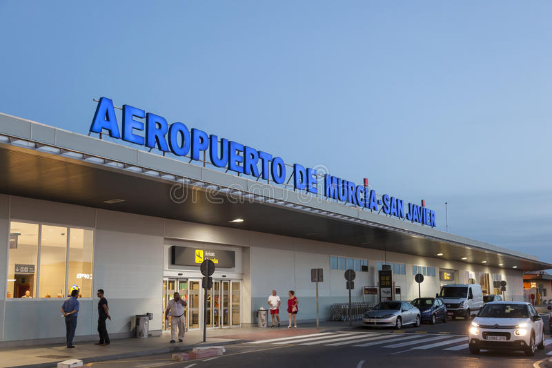 De luchthaven van San Javier in Murcia, Spanje royalty-vrije stock foto's