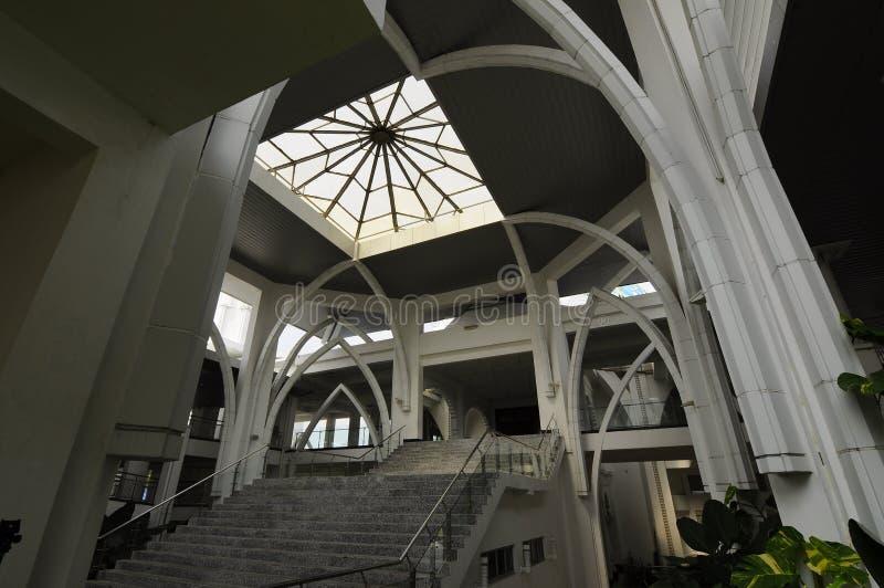 De Luchthaven van Sultan Ismail Airport Mosque - Senai-, Maleisië stock foto's