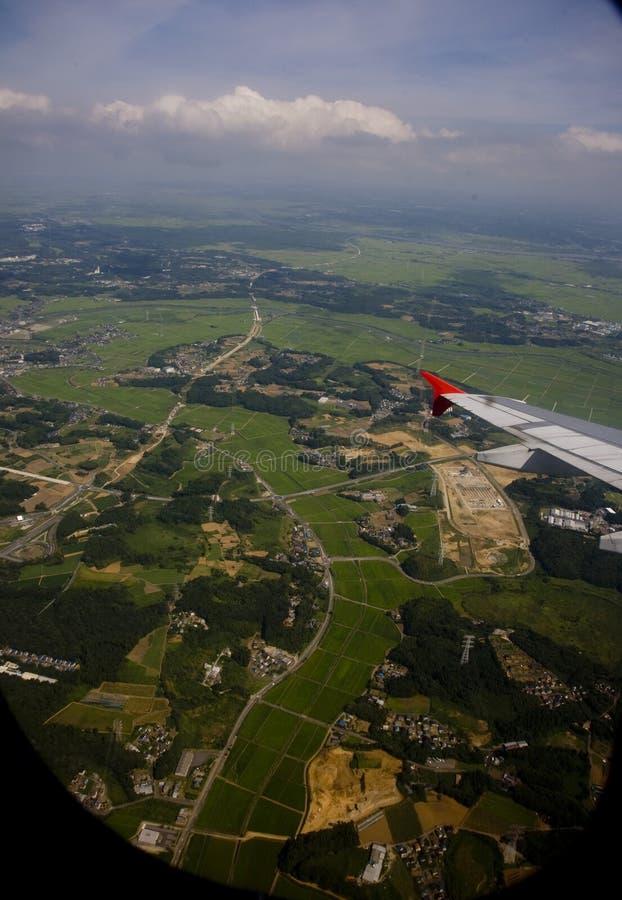 De luchthaven van Tokyo. Stad van Japan Tokyo. stock foto