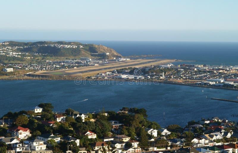 De luchthaven van Wellington, Nieuw Zeeland stock foto's