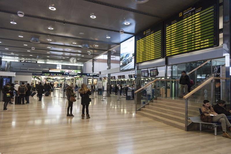 De luchthaven van Zagreb royalty-vrije stock afbeeldingen