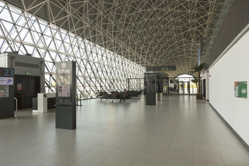 De Luchthaven van Zagreb in Kroatië stock afbeeldingen