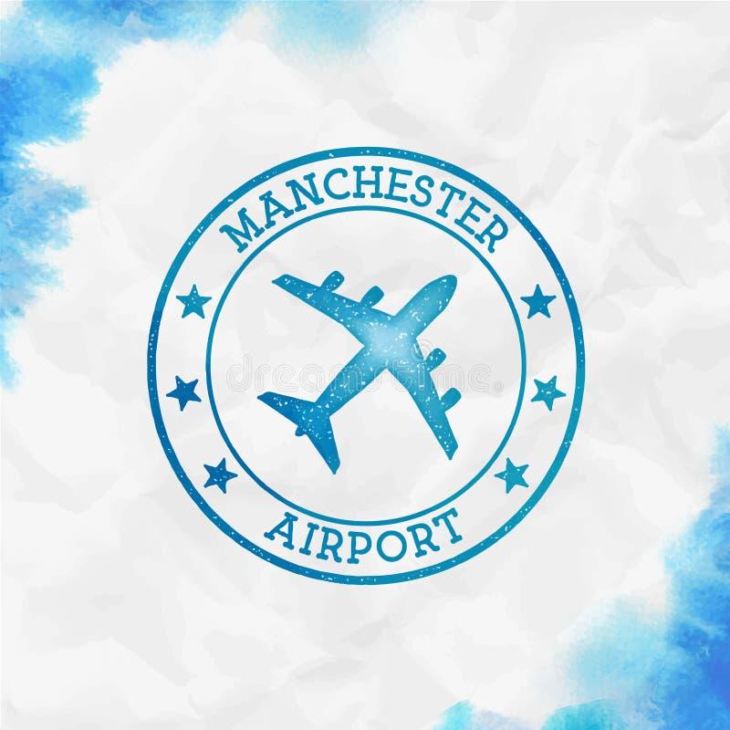 De Luchthavenembleem van Manchester vector illustratie