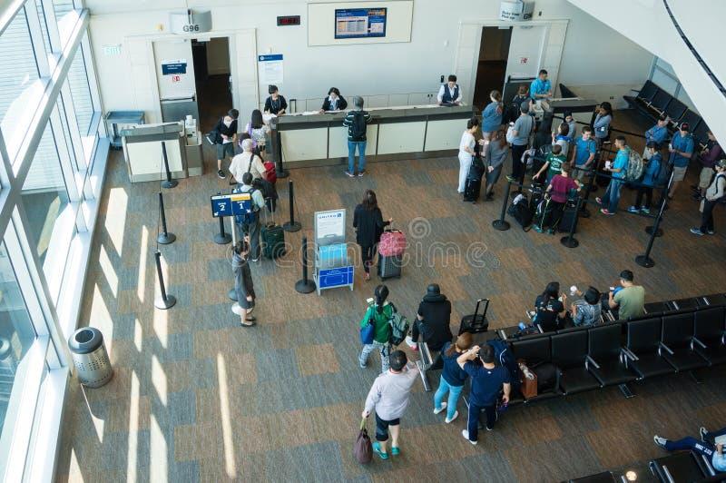 De Luchthavenpoort van Tokyo Narita het Inschepen royalty-vrije stock foto's