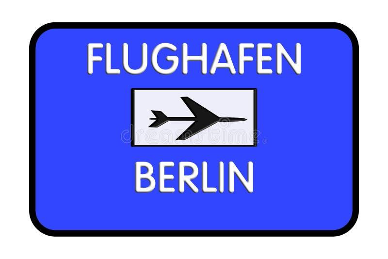 De Luchthavenweg van verkeersteken Berlijn-Tegel Duitsland vector illustratie