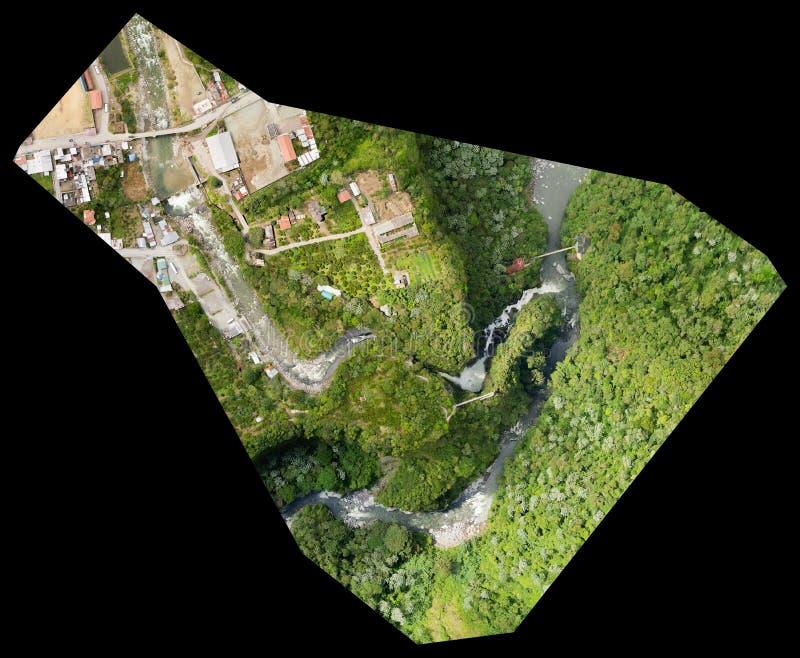 De Luchtkaart van de Orthorectifiedhommel royalty-vrije stock afbeelding