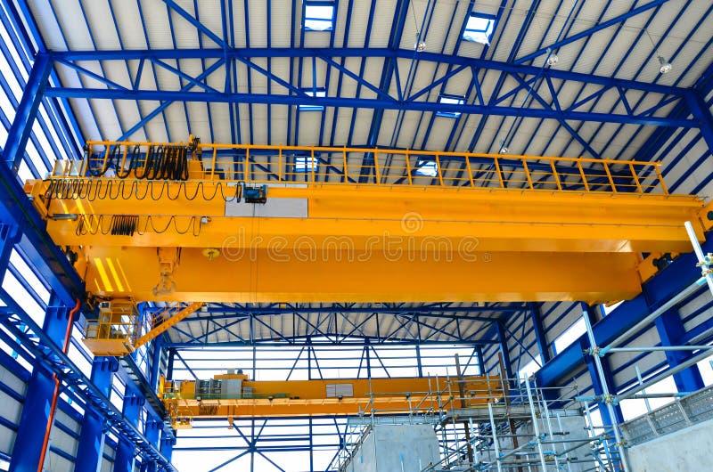 De luchtkraan van de fabriek royalty-vrije stock fotografie