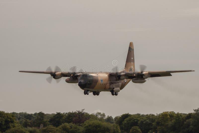 De Luchtmacht Hercules van Royal Jordanian bij RIAT royalty-vrije stock afbeeldingen