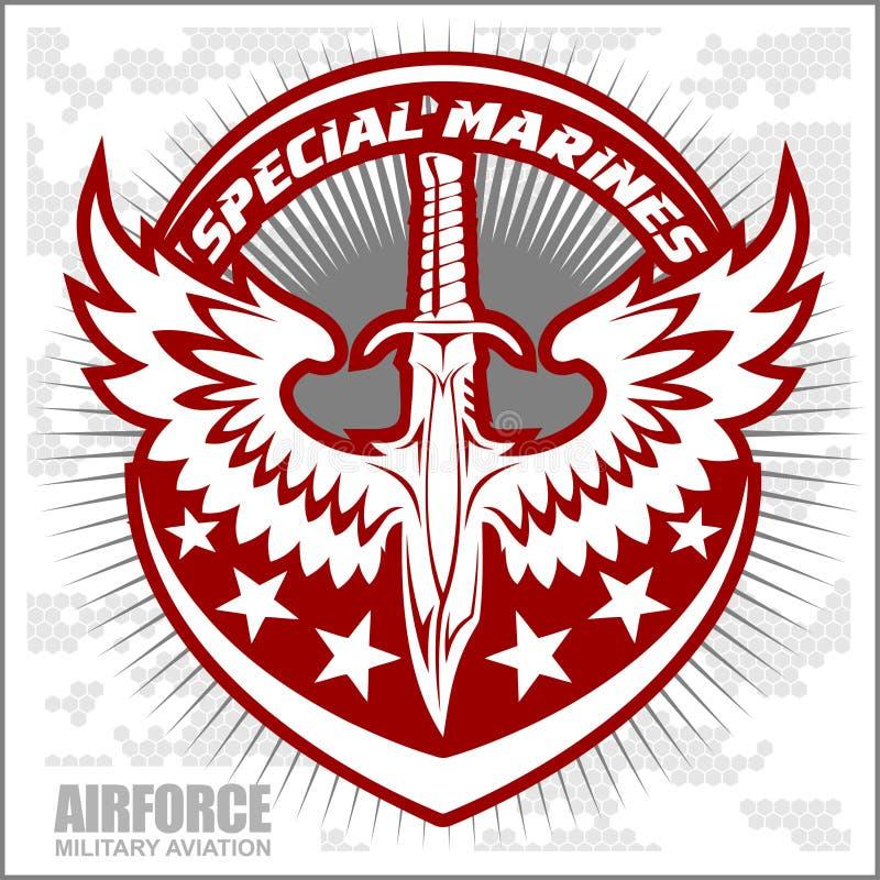 De luchtmacht van het vechterseskader - militaire luchtvaart stock illustratie