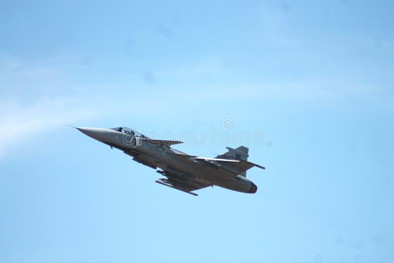 De Luchtmacht van Saab Gripen Fighter Aircraft Swedish royalty-vrije stock afbeeldingen
