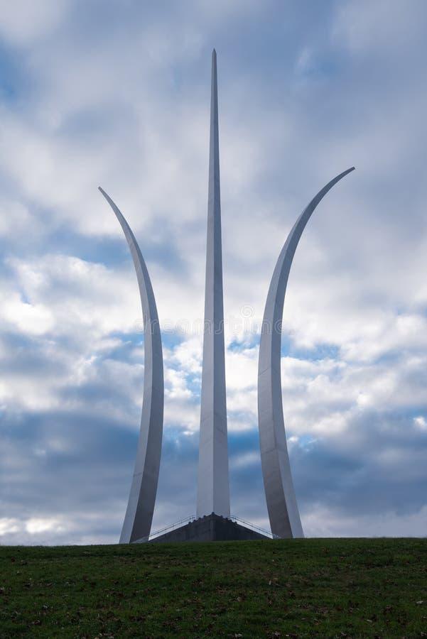 De Luchtmachtgedenkteken van Verenigde Staten, Arlington, VA stock foto's