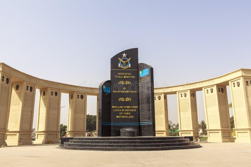 De Luchtmachtmuseum van Pakistan in Karachi stock fotografie