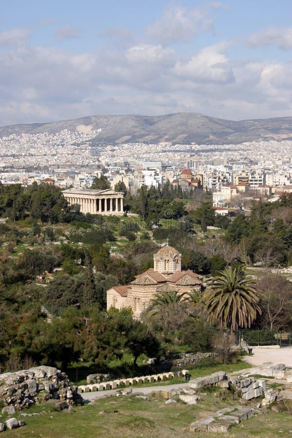 De Luchtmening Van Athene Stock Foto's