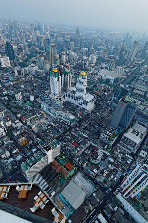 De luchtmening van Bangkok stock foto's