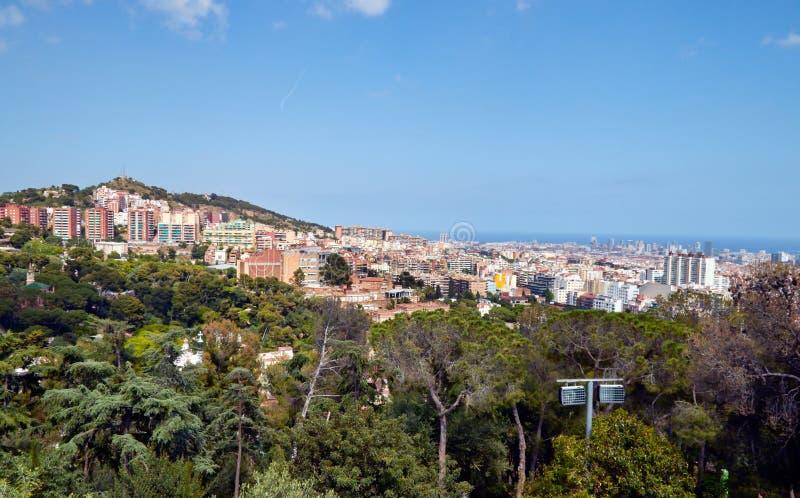 De luchtmening van Barcelona van hierboven stock fotografie