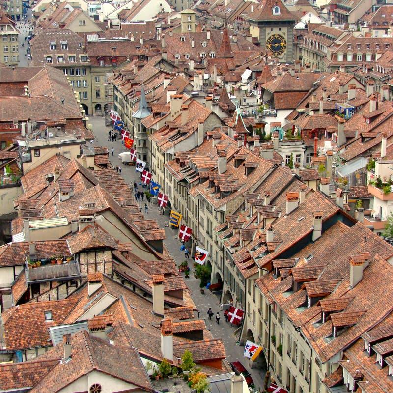 De luchtmening van Bern stock foto