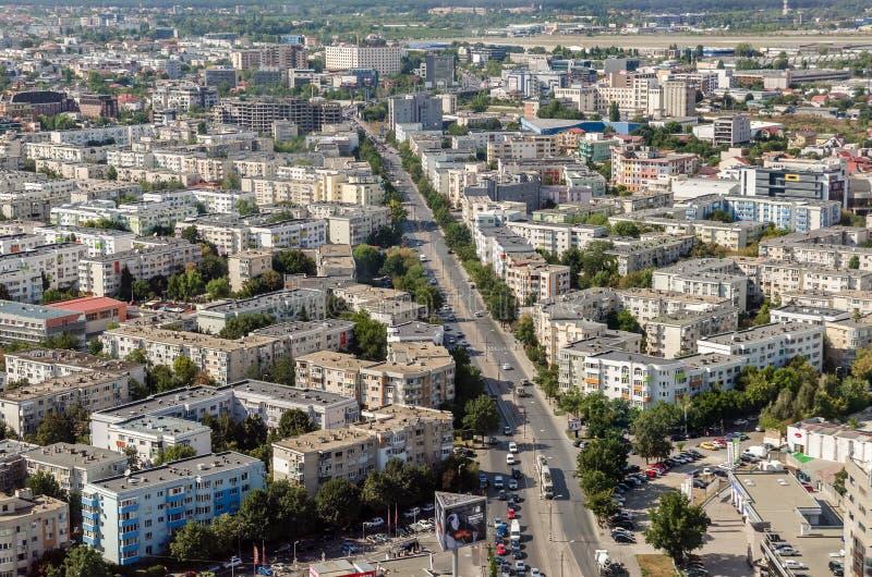 De Luchtmening van Boekarest stock foto's