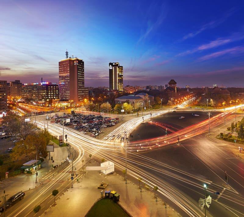 De luchtmening van Boekarest royalty-vrije stock foto's