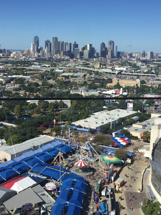 De luchtmening van Dallas Fair royalty-vrije stock afbeelding