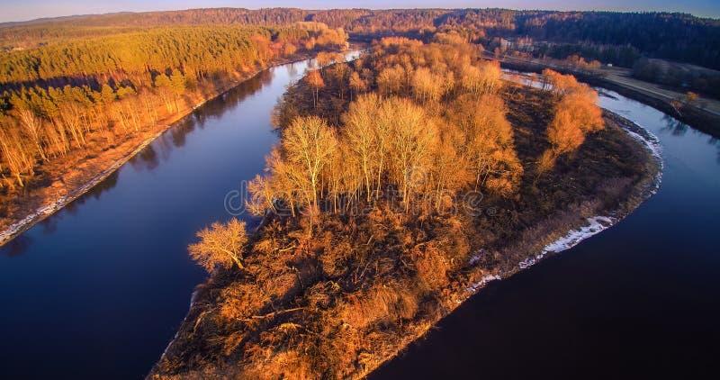 De luchtmening van de rivier royalty-vrije stock afbeelding