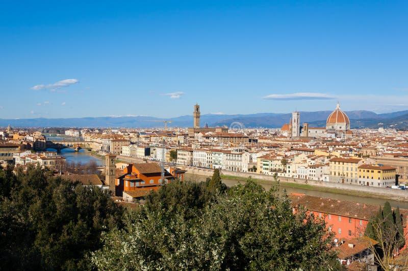 De luchtmening van Florence, Toscanië, Italië royalty-vrije stock afbeelding
