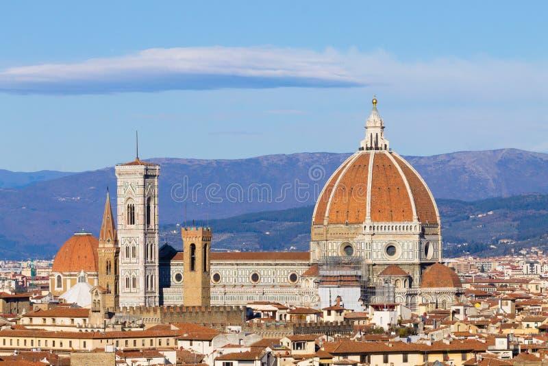 De luchtmening van Florence, Toscani?, Itali? stock foto