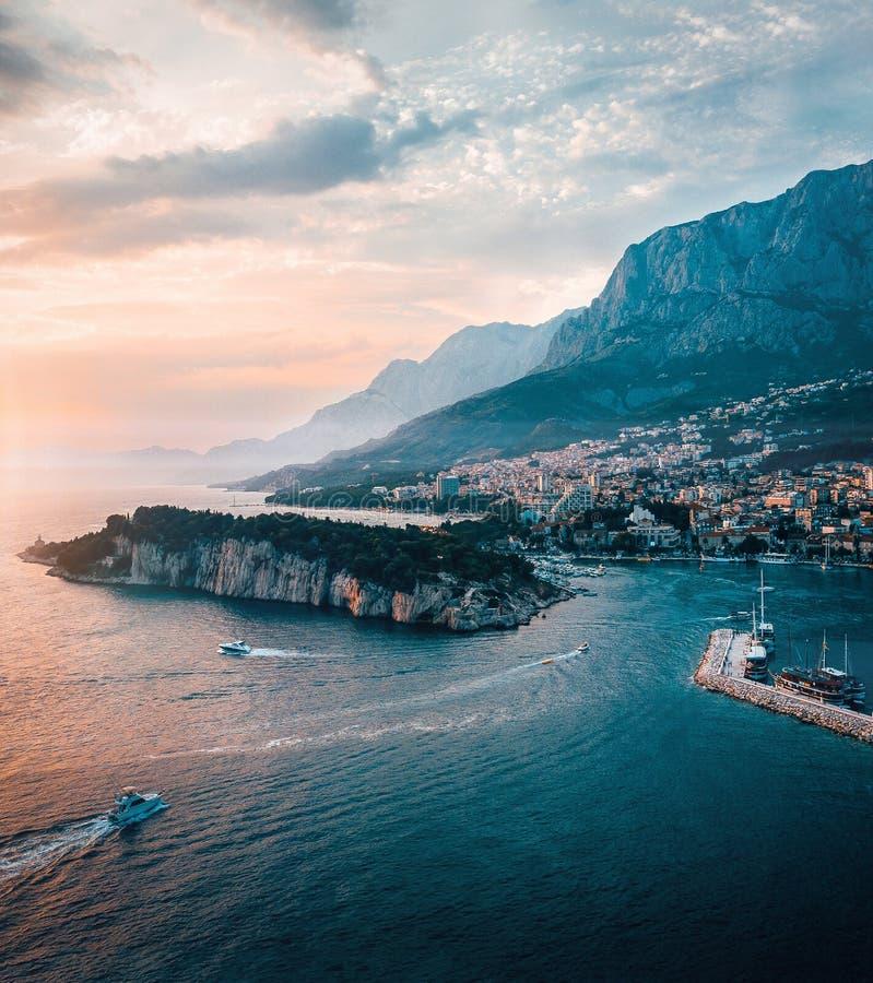 De luchtmening van Kroatië van bergen royalty-vrije stock afbeeldingen