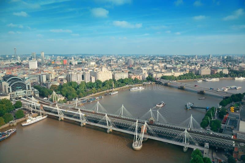 De Luchtmening van Londen stock foto